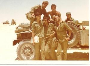 תמונה שצולמה במלחמת ההתשה בגדוד 79 בפלוגה א'. דידי נראה ראשון משמאל מקדימה.