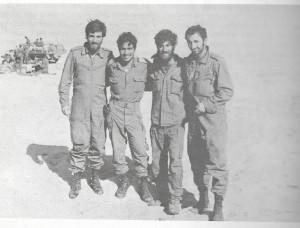 תמונה מהמלחמה (הספר של חטיבה 600 ) שני משמאל ניסים שלום